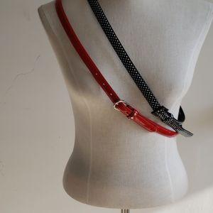 Ladies skinny belts (2 pack)